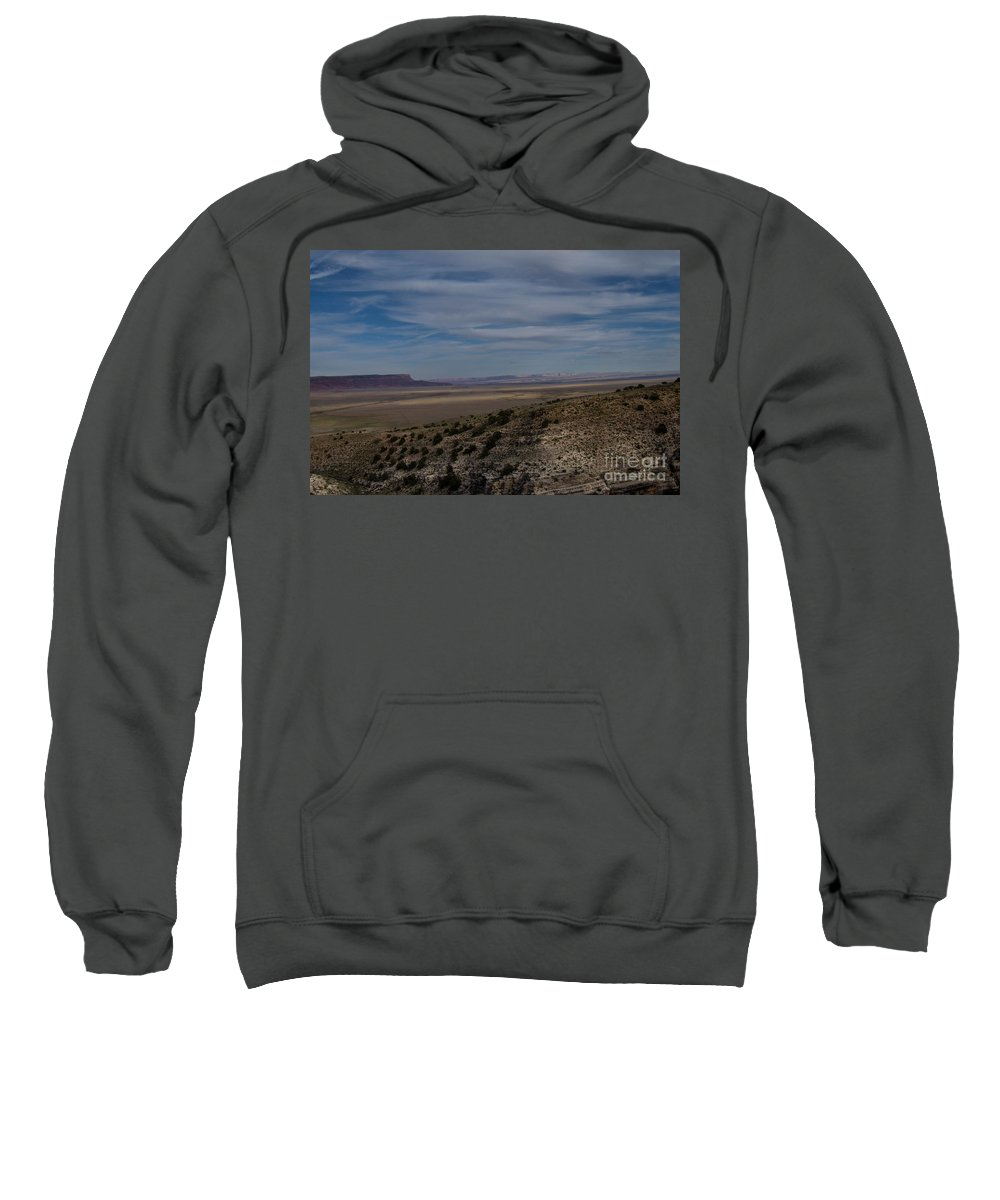 Brown Sweatshirt featuring the photograph Natures Painted Desert by Rich Priest