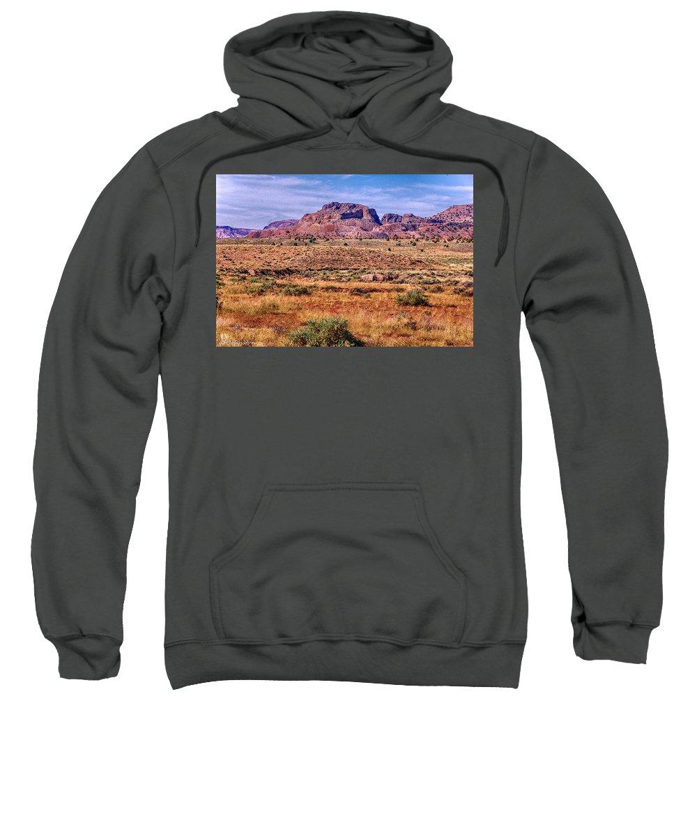Arizona Sweatshirt featuring the digital art Navajo Nation Series 2 by Bob and Nadine Johnston