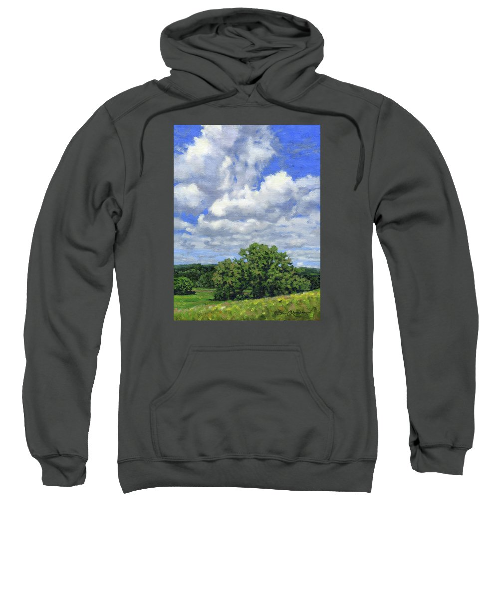 Summer Landscape Sweatshirt featuring the painting Nearly September by Bruce Morrison