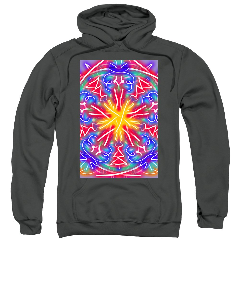 Kaleidoscope Sweatshirt featuring the digital art New Toy 1 by Bruce Nutting