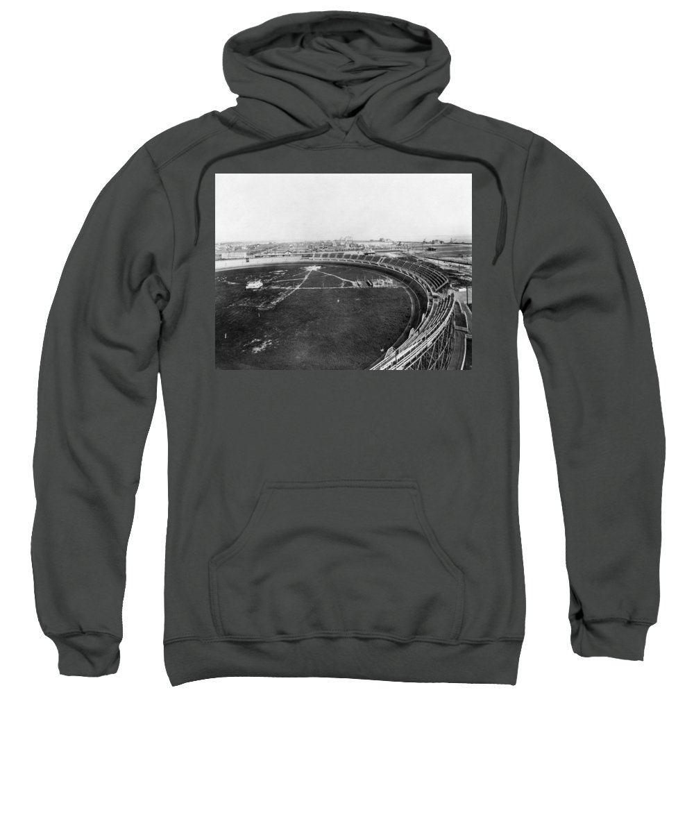 1912 Sweatshirt featuring the photograph New York Motordrome, C1912 by Granger