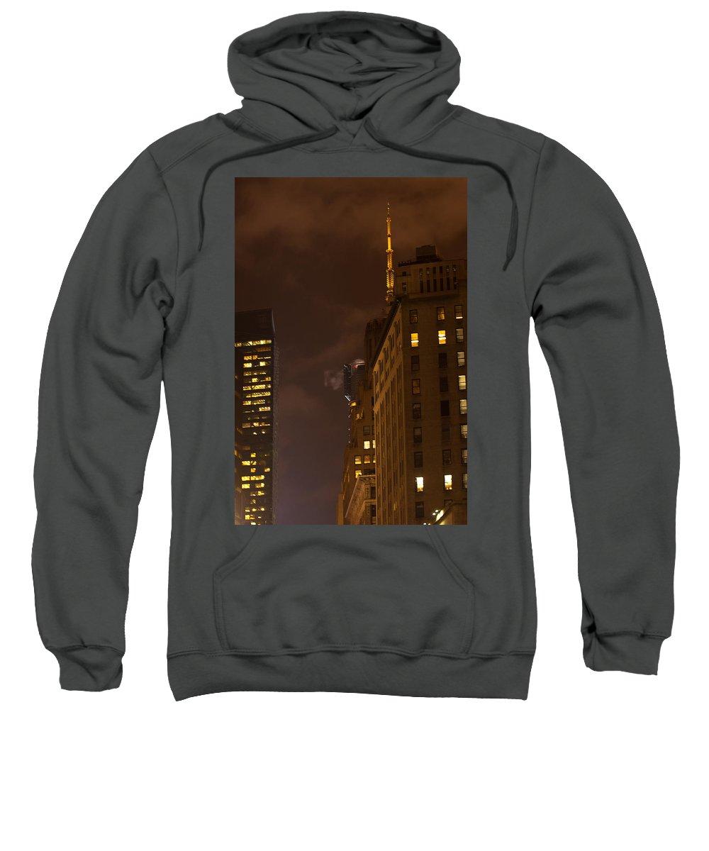 """new York City"" Sweatshirt featuring the photograph New York Night by Paul Mangold"
