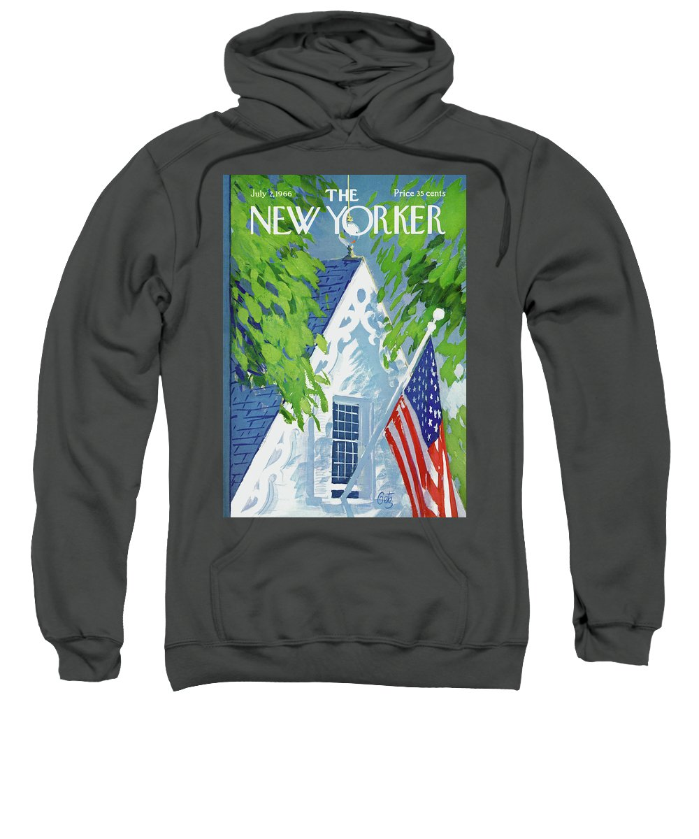 July Fourth Sweatshirt featuring the painting New Yorker July 2nd, 1966 by Arthur Getz