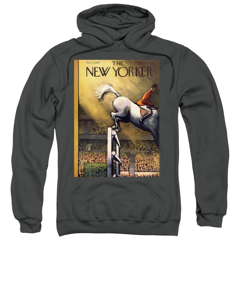 Arthur Getz Agt Sweatshirt featuring the painting New Yorker November 9th, 1957 by Arthur Getz