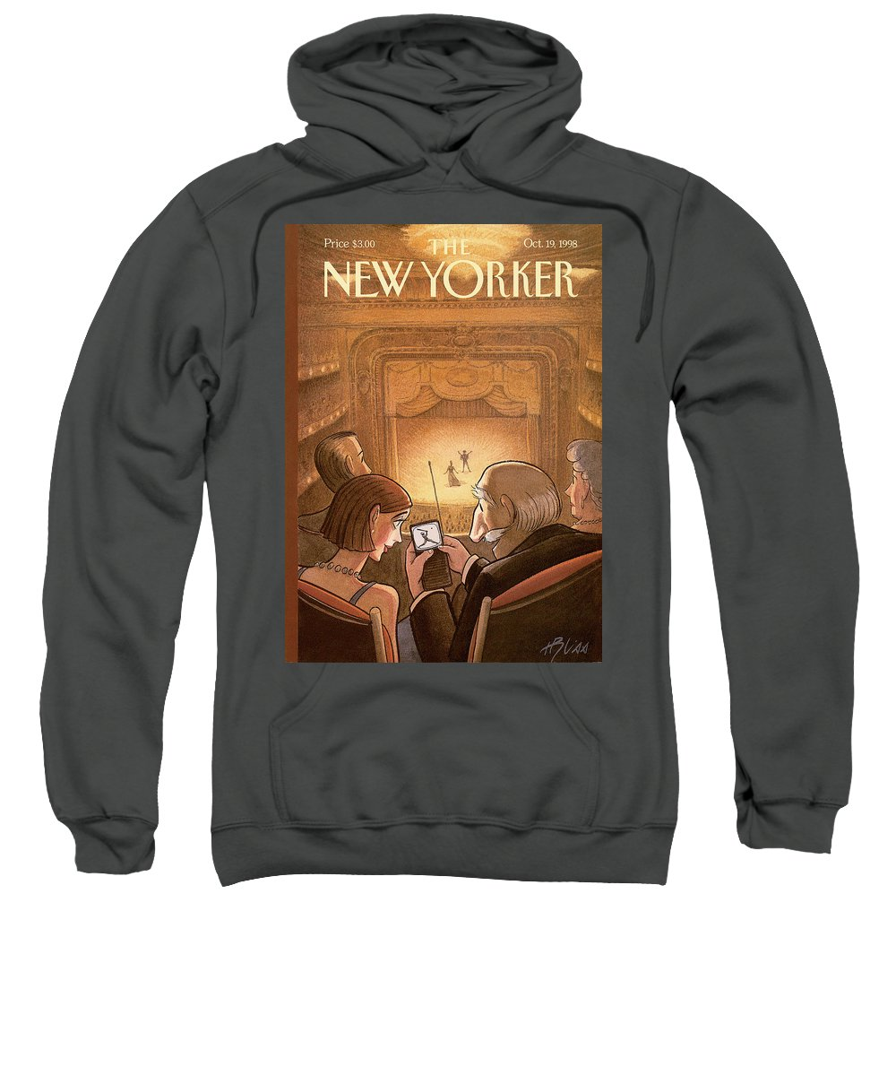 Doubleheader Sweatshirt featuring the painting New Yorker October 19th, 1998 by Harry Bliss