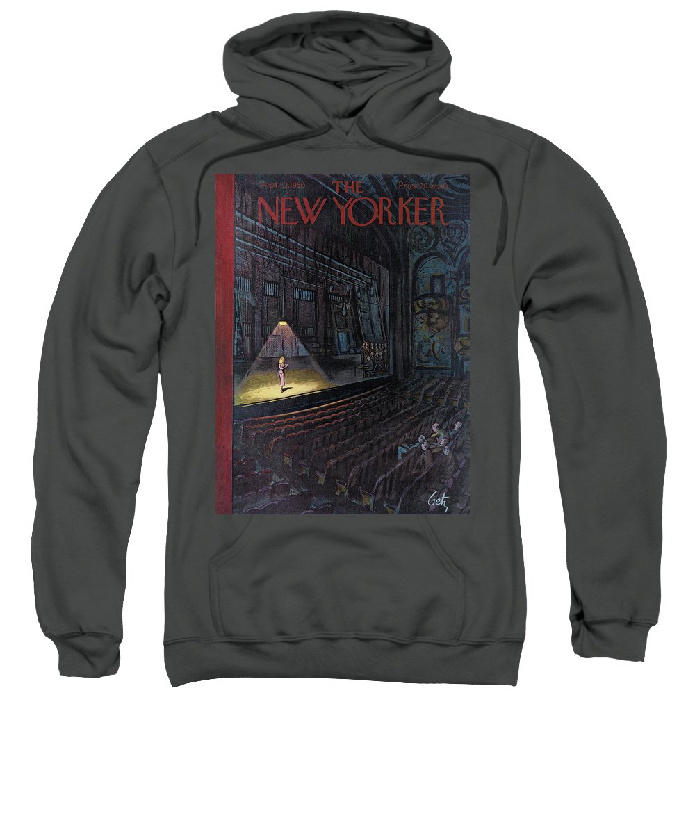 Concert Sweatshirt featuring the painting New Yorker September 23rd, 1950 by Arthur Getz