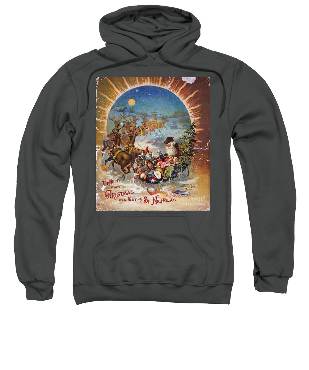 1896 Sweatshirt featuring the photograph Night Before Christmas by Granger