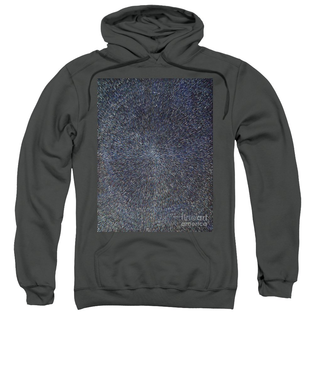 Abstract Sweatshirt featuring the painting Night Radiation by Dean Triolo