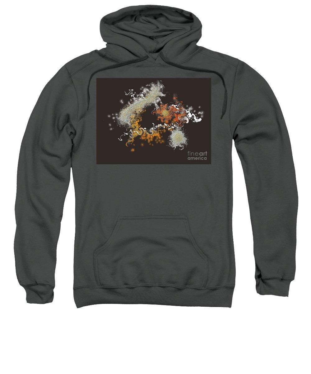 Sweatshirt featuring the digital art No. 559 by John Grieder