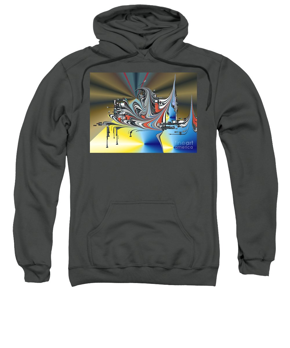 Sweatshirt featuring the digital art No. 567 by John Grieder