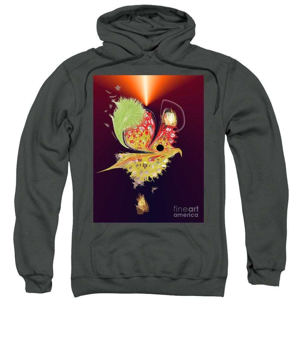 Sweatshirt featuring the digital art No. 957 by John Grieder
