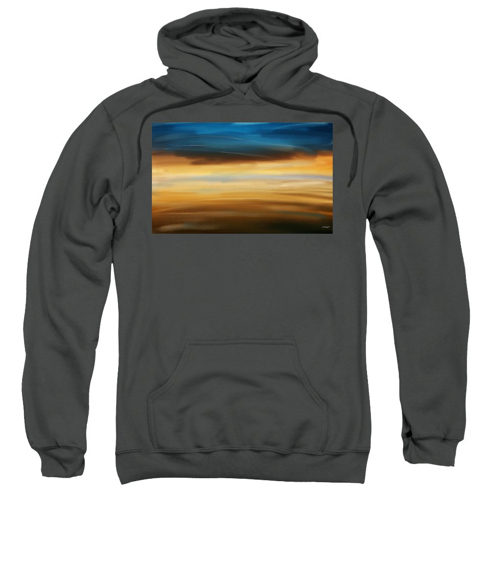 Seascapes Abstract Sweatshirt featuring the digital art No Ending by Lourry Legarde