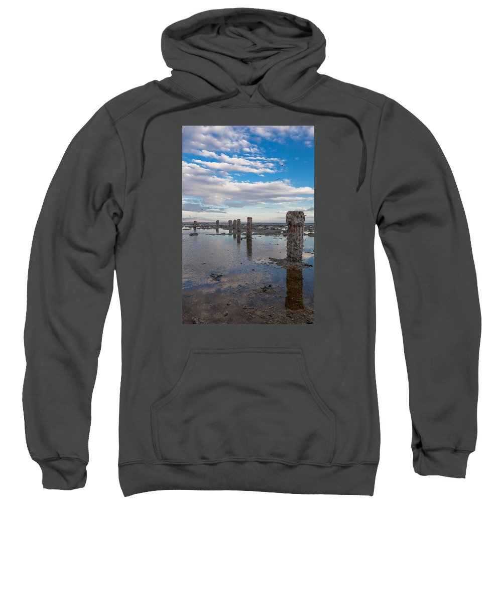 Pilings Sweatshirt featuring the photograph No More Dock by Scott Campbell