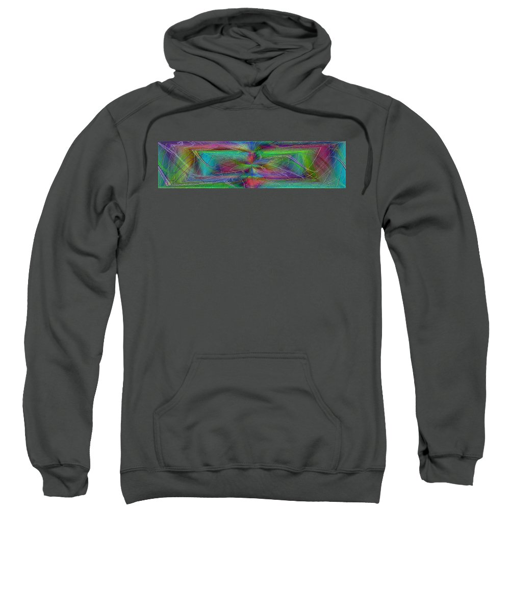 Abstract Sweatshirt featuring the digital art No Strings Attatched by Tim Allen