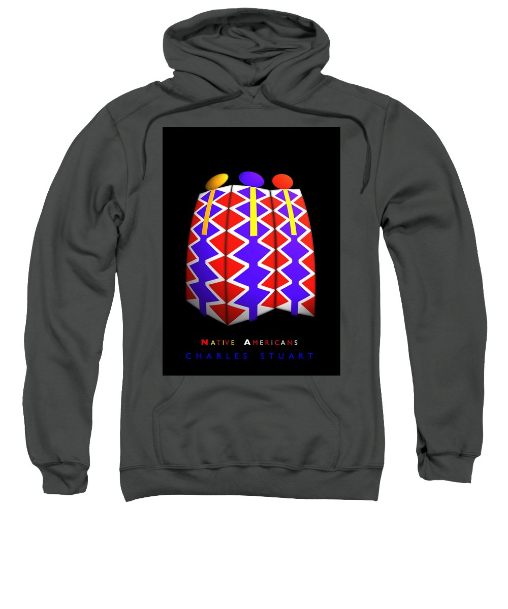 Native American Sweatshirt featuring the painting North American Pattern by Charles Stuart