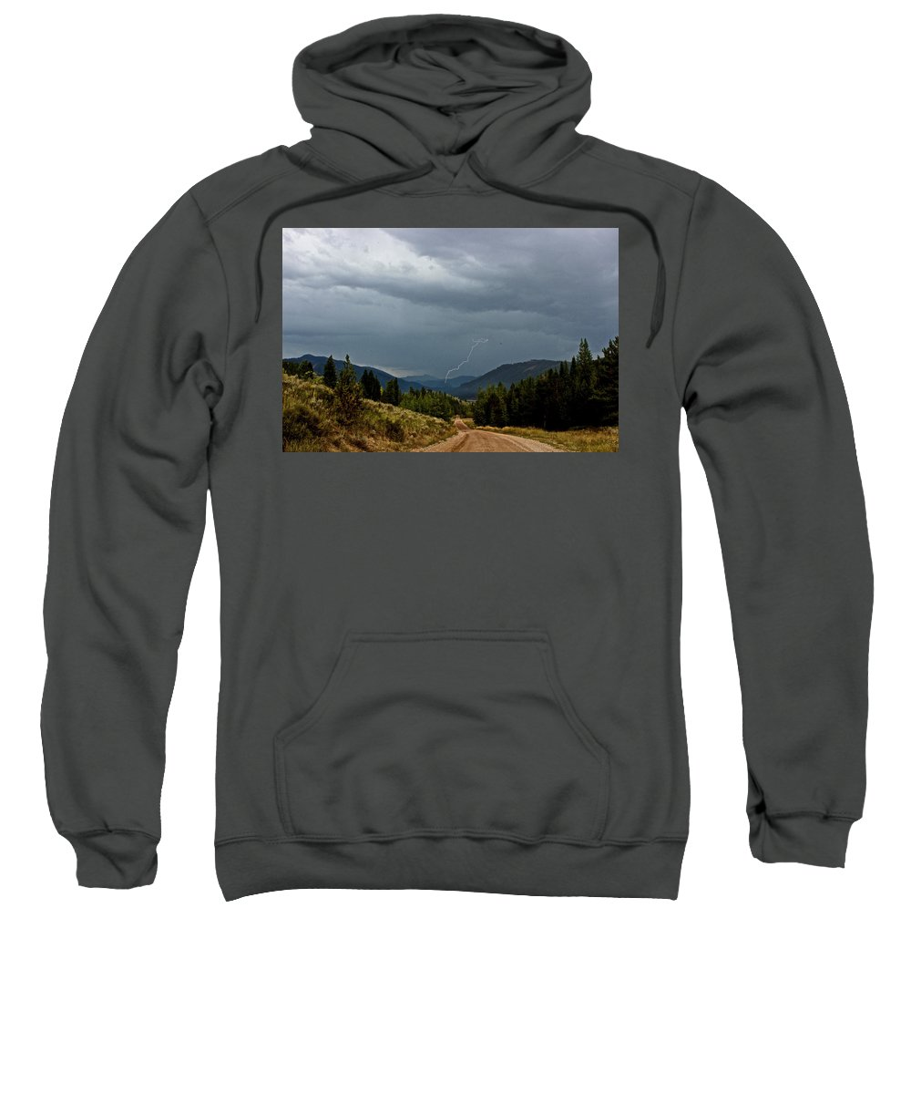 Lightning Sweatshirt featuring the photograph Not Enough Rain by Christina Warburg