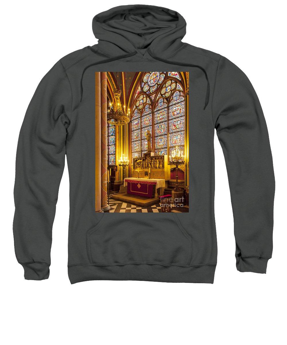 Alter Sweatshirt featuring the photograph Notre Dame Chapel by Brian Jannsen