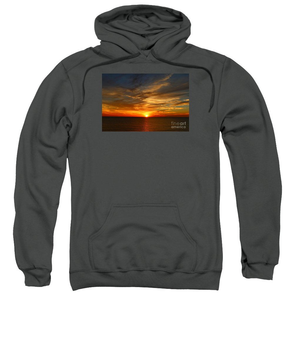 Sunset Sweatshirt featuring the photograph November Sunset by Christiane Schulze Art And Photography