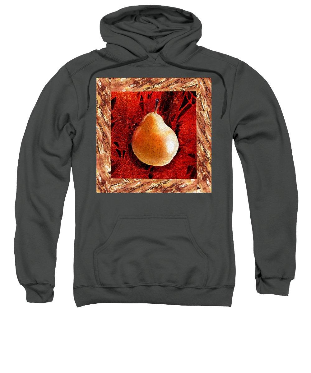 Pear Sweatshirt featuring the painting Nude N Beautiful Pear by Irina Sztukowski