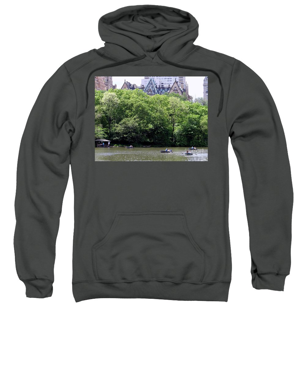 Central Park Sweatshirt featuring the photograph Nyc Urban Oasis by Ed Weidman