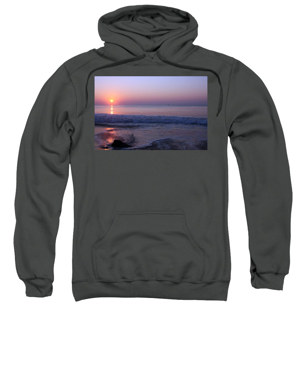 Beach Sunrise Sweatshirt featuring the photograph Oc Sunrise2 by Carolyn Stagger Cokley