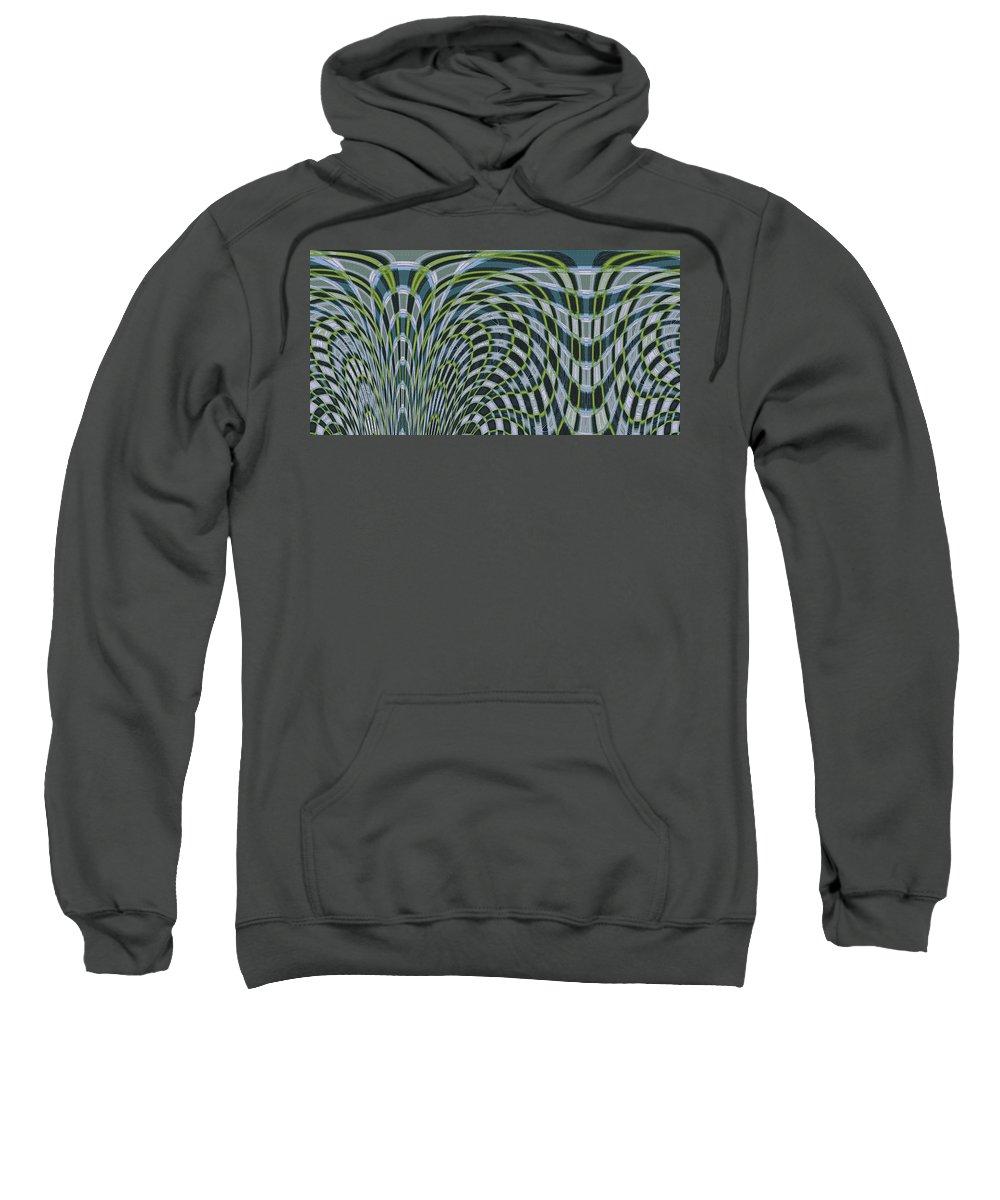 Water Abstract Sweatshirt featuring the digital art Ocean Dream by Ben and Raisa Gertsberg