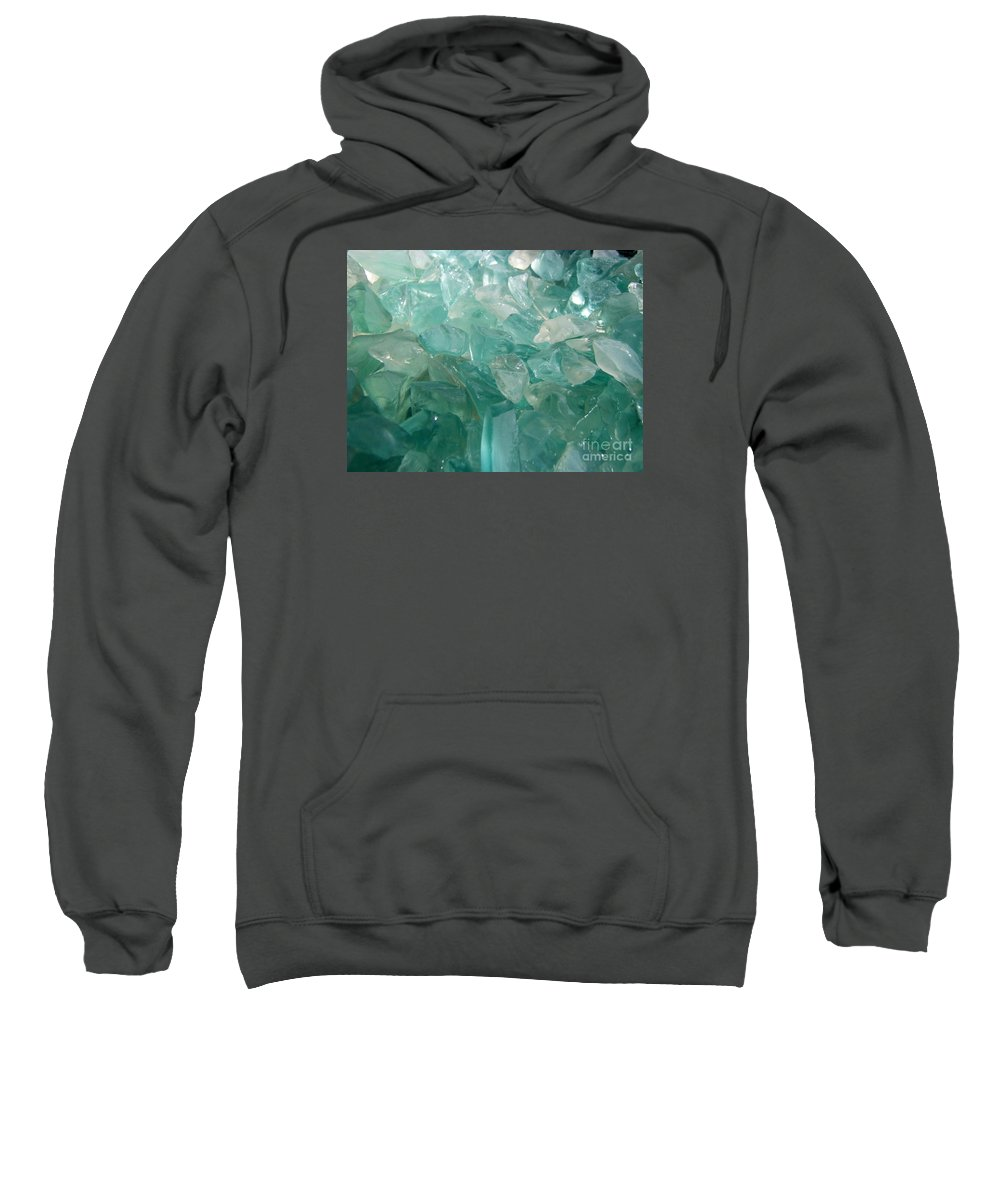 Ocean Sea Glass Teal Light Sweatshirt featuring the photograph Ocean Dream by Kristine Nora