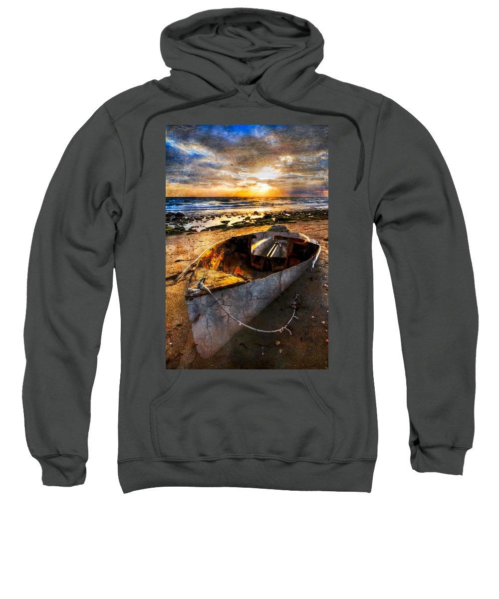 Boats Sweatshirt featuring the photograph Ocean Salty by Debra and Dave Vanderlaan