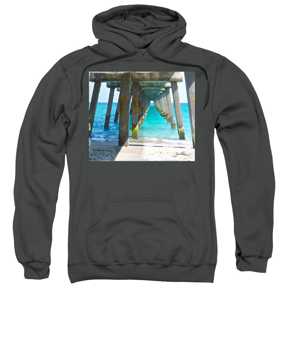Miami Beach Sweatshirt featuring the painting Ocean View by Joan Reese