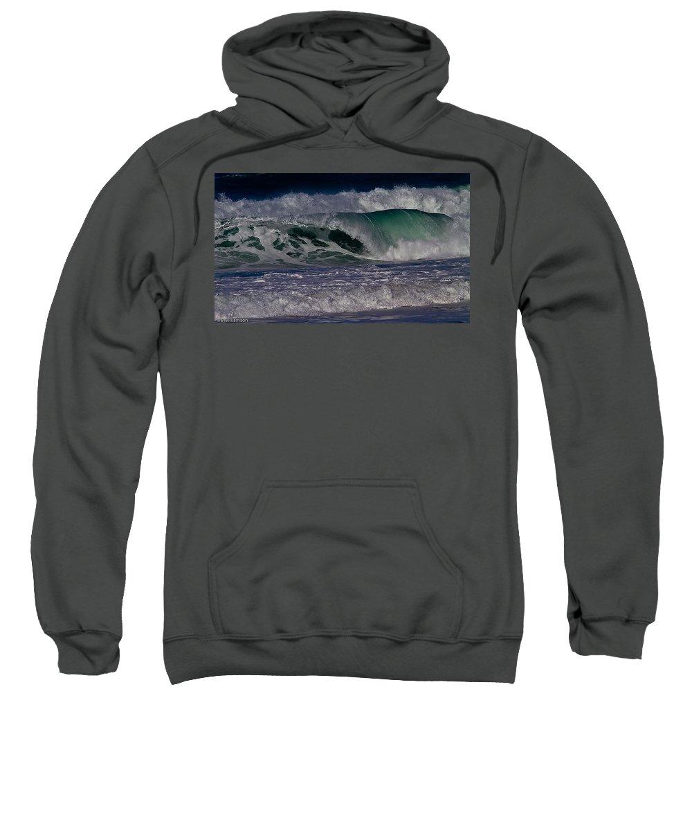 Ocean Sweatshirt featuring the photograph Ocean Wave by Brian Williamson
