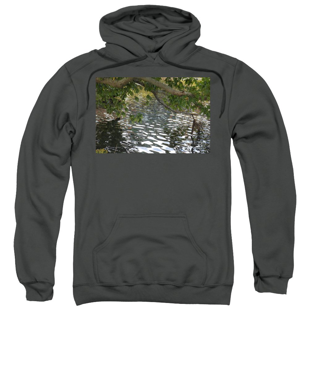 Pond Sweatshirt featuring the photograph Ode To Monet by Charlotte Stevenson
