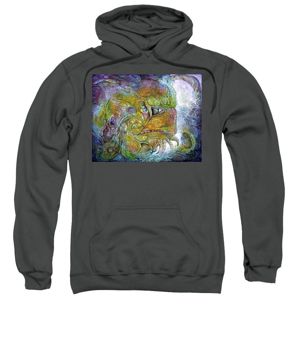 Tiamat Sweatshirt featuring the painting Offspring Of Tiamat - The Fomorii Union by Otto Rapp