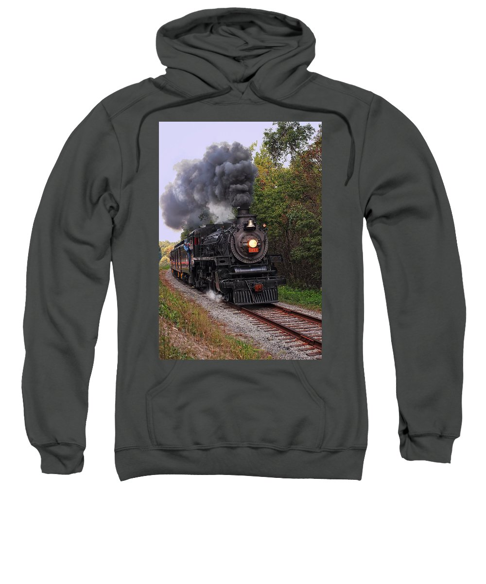 Railroad Sweatshirt featuring the photograph Ohio Central #1293 Steam by Marcia Colelli