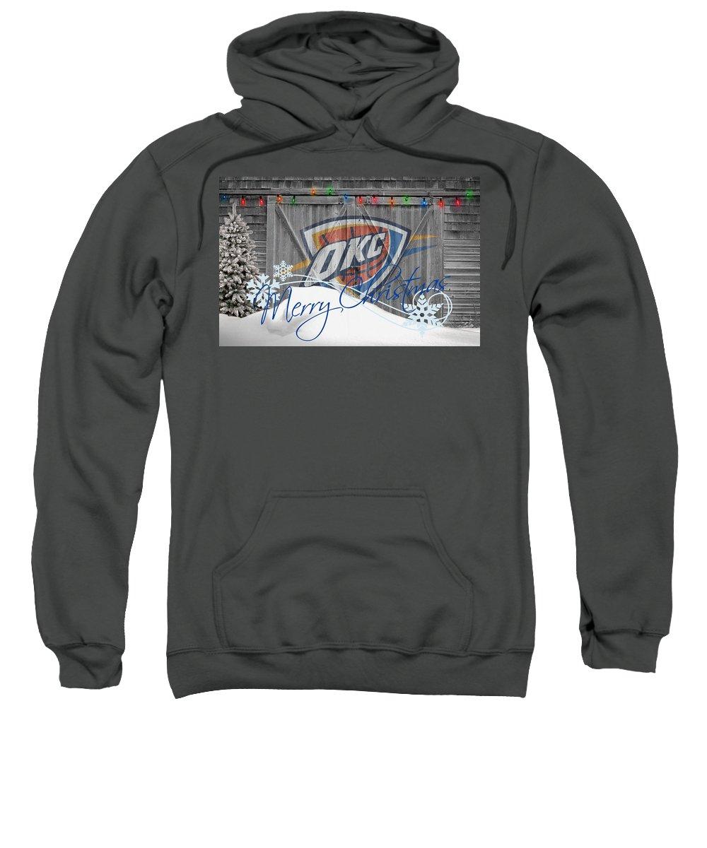 Thunder Sweatshirt featuring the photograph Oklahoma City Thunder by Joe Hamilton