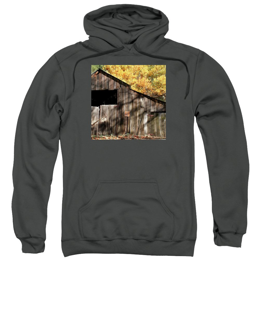 Nipomo Sweatshirt featuring the photograph Old Barn In Autumn by Art Block Collections