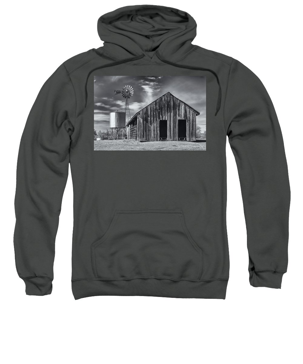 Arizona Sweatshirt featuring the photograph Old Barn No Wind by Mark Myhaver