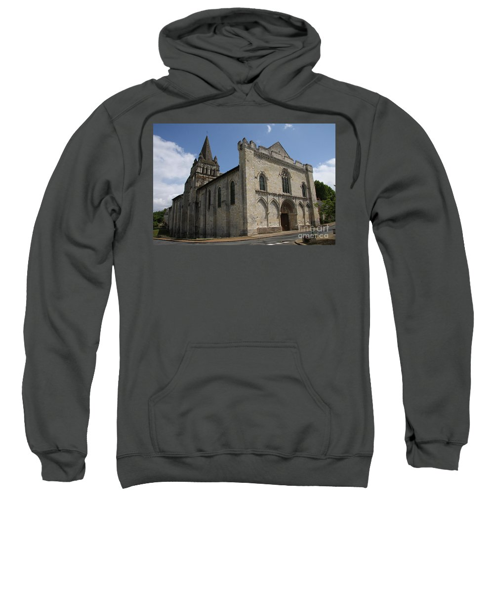 Church Sweatshirt featuring the photograph Old Church - Loire - France by Christiane Schulze Art And Photography