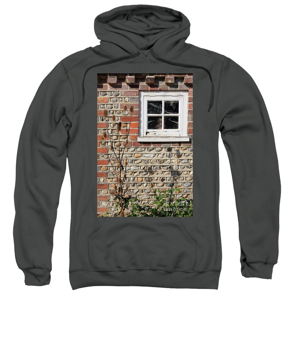 Traditional Cottage Sussex Uk Window Sweatshirt featuring the photograph Old Cottage Window Sussex Uk by Julia Gavin