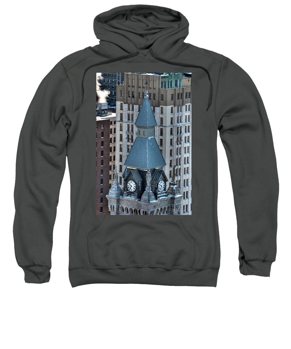 Winter Sweatshirt featuring the photograph Old County Hall Winter 2013 by Michael Frank Jr