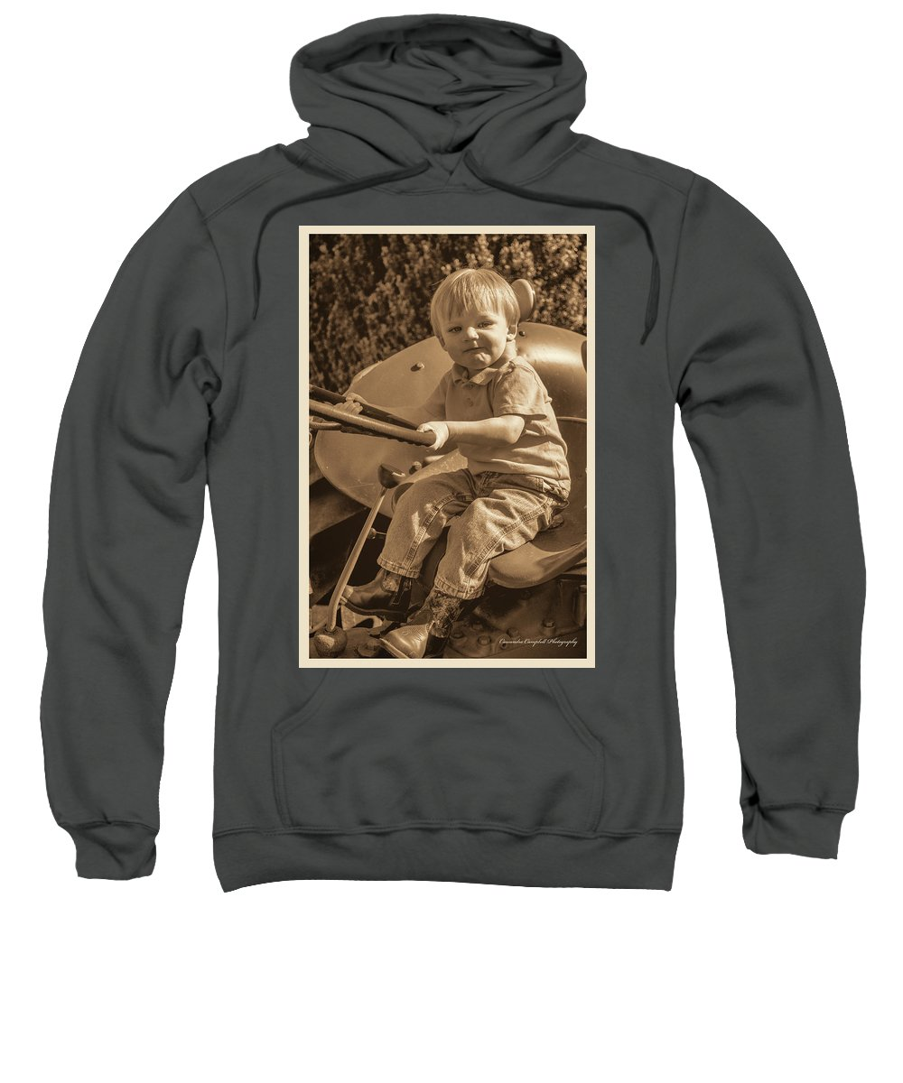 Sweatshirt featuring the photograph Old Farmer by Photos By Cassandra