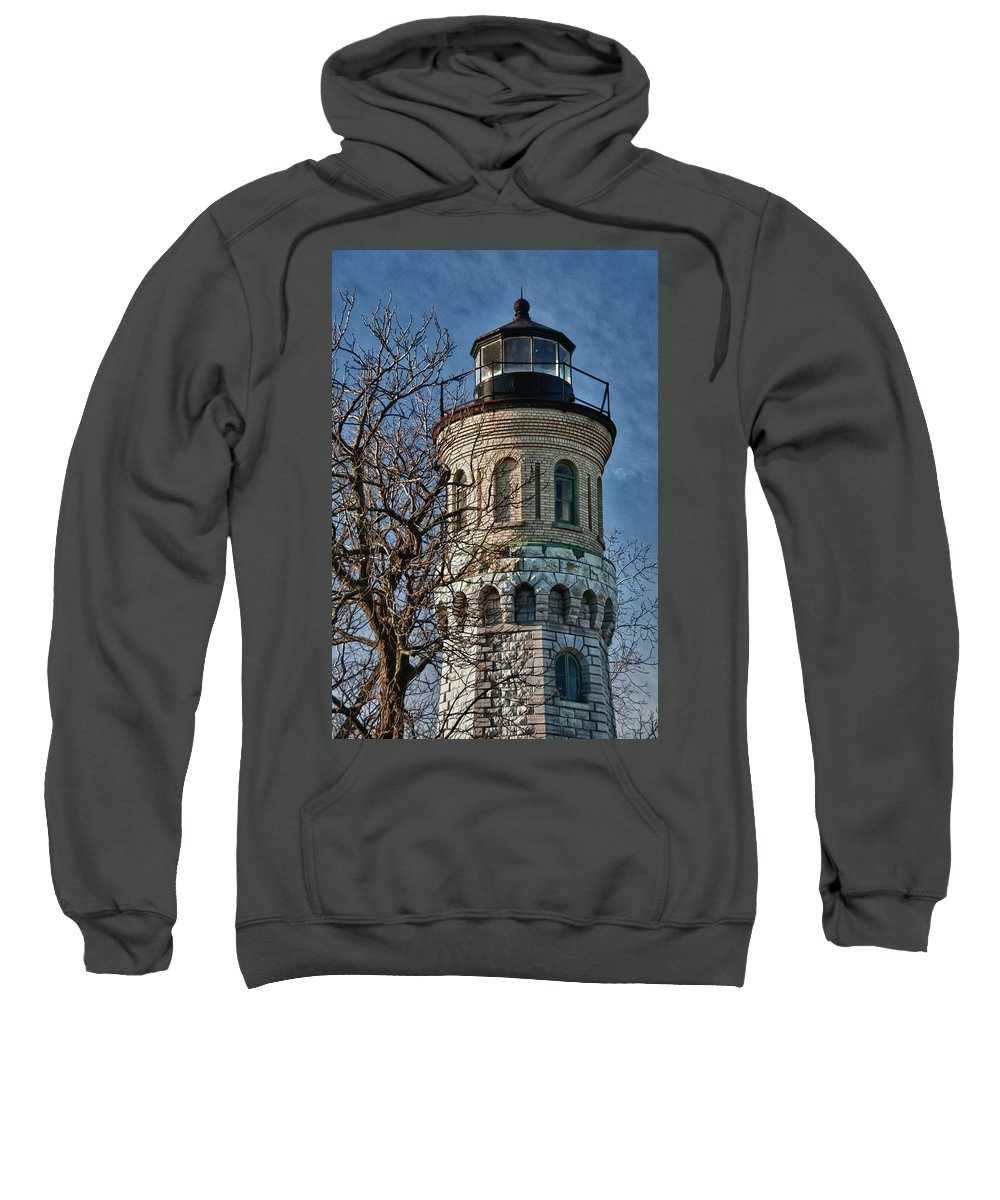 Lighthouse Sweatshirt featuring the photograph Old Fort Niagara Lighthouse 4484 by Guy Whiteley