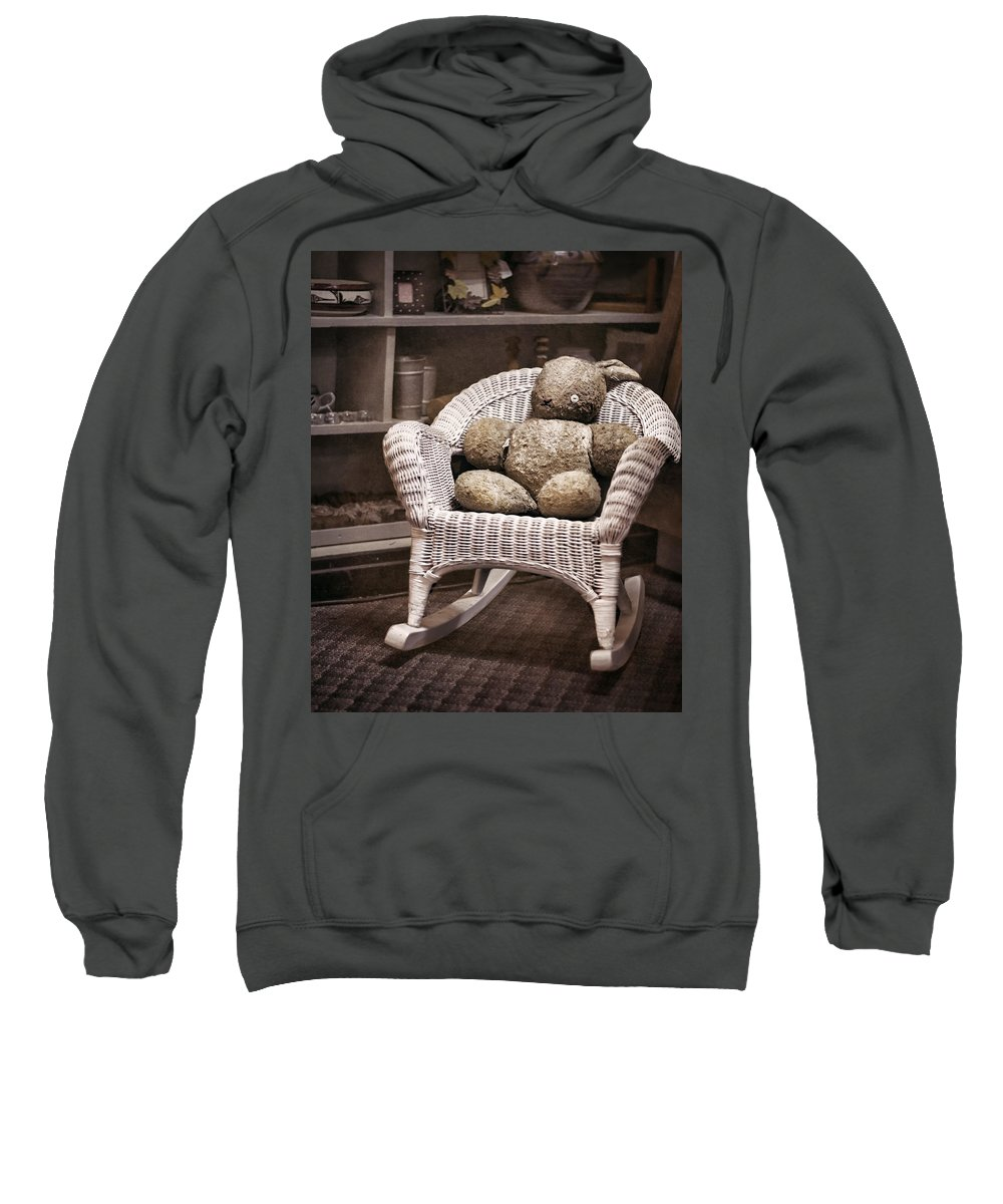Stuffed Animal Sweatshirt featuring the photograph Old Friend by Heather Applegate