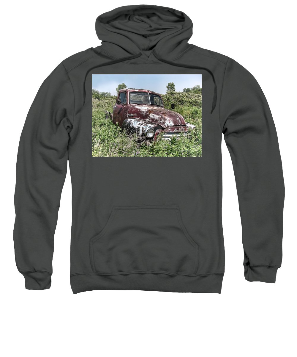 Gmc Sweatshirt featuring the photograph Old Gmc Truck by Olivier Le Queinec