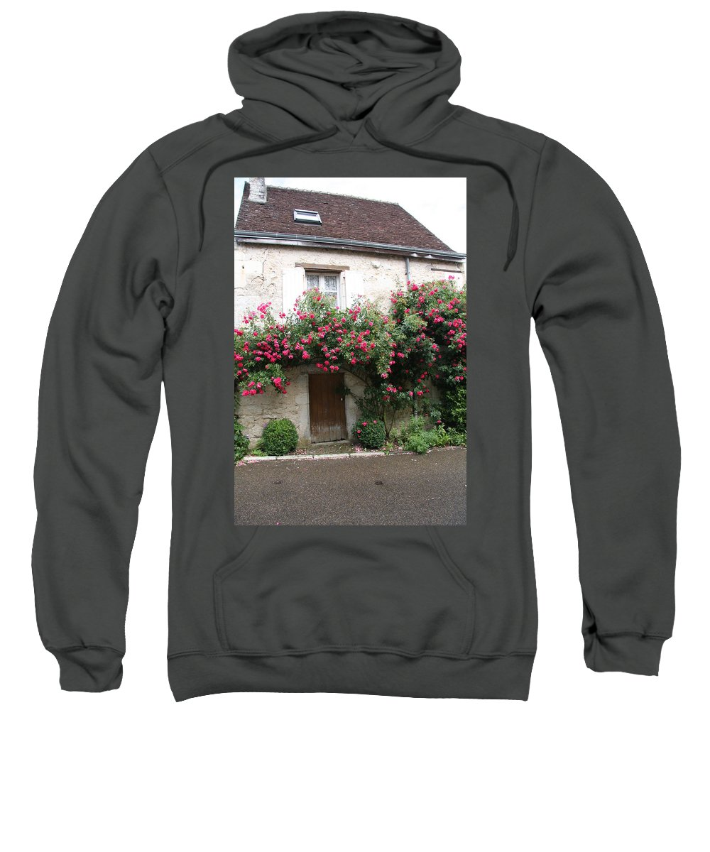 Rose Sweatshirt featuring the photograph Old House Covered With Roses by Christiane Schulze Art And Photography