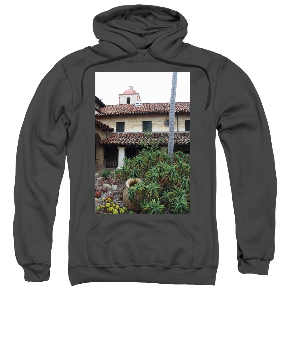 Old Mission Sweatshirt featuring the photograph Old Mission Santa Barbara by Christiane Schulze Art And Photography