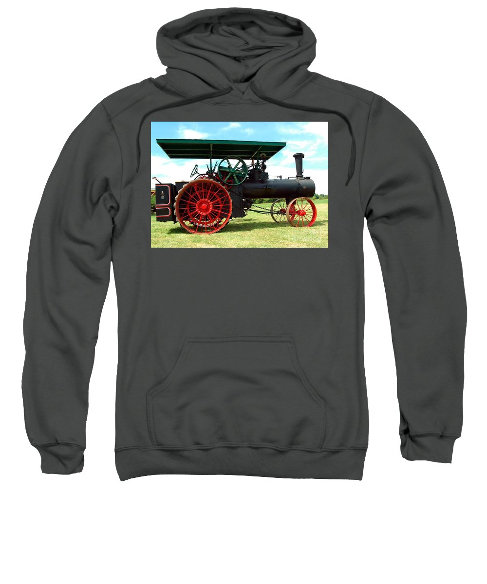 Old Sweatshirt featuring the photograph Old Steam Engine by Kathleen Struckle
