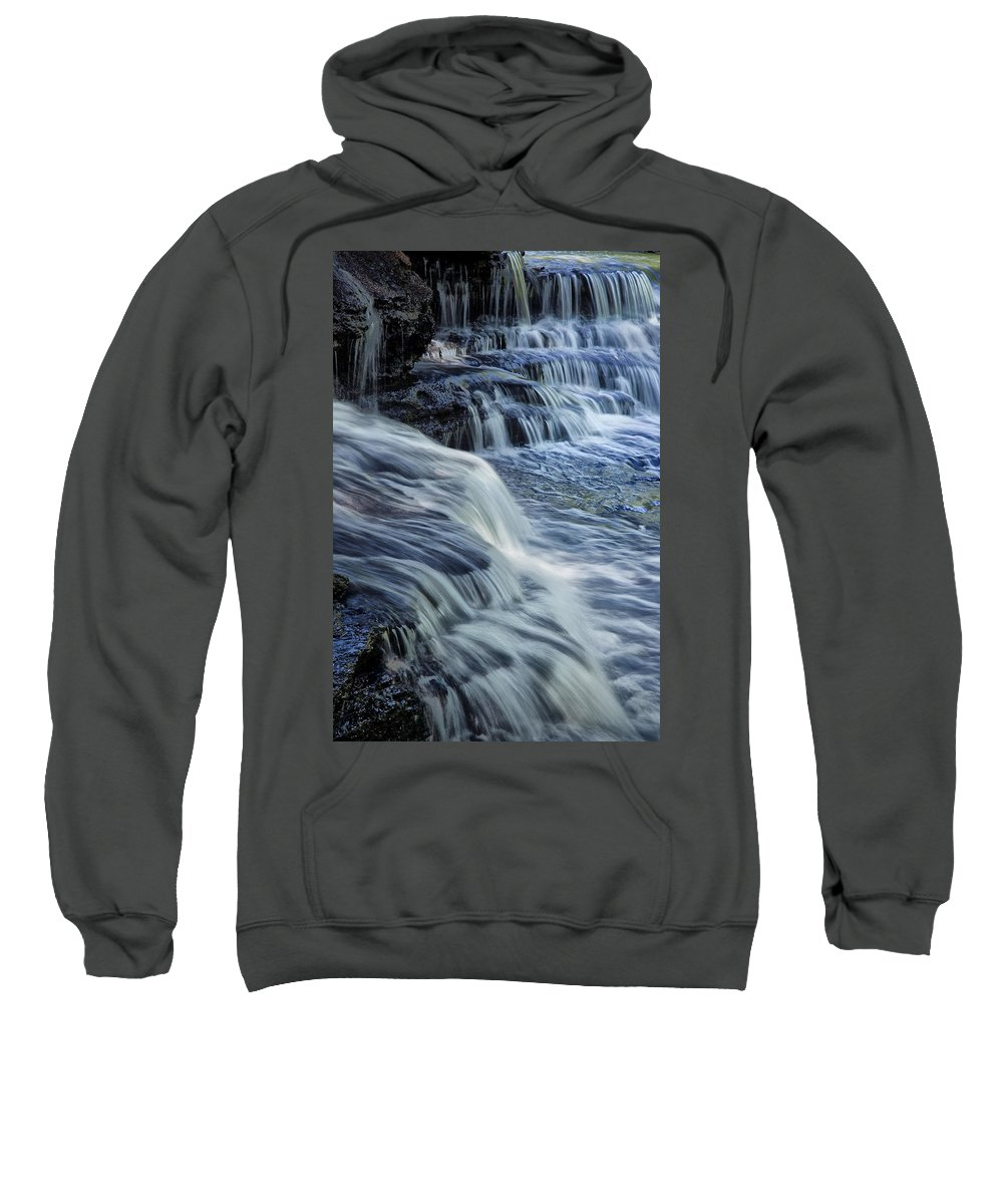Water Sweatshirt featuring the photograph Old Stone Fort Waterfall by Diana Powell