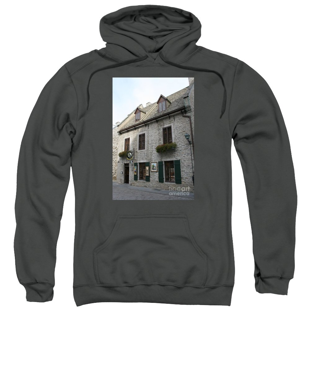 Old Town Sweatshirt featuring the photograph Old Town Quebec Canada by Christiane Schulze Art And Photography