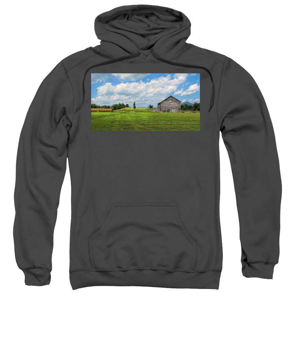 Barn Sweatshirt featuring the photograph Old Virginia Barn by Dave Mills