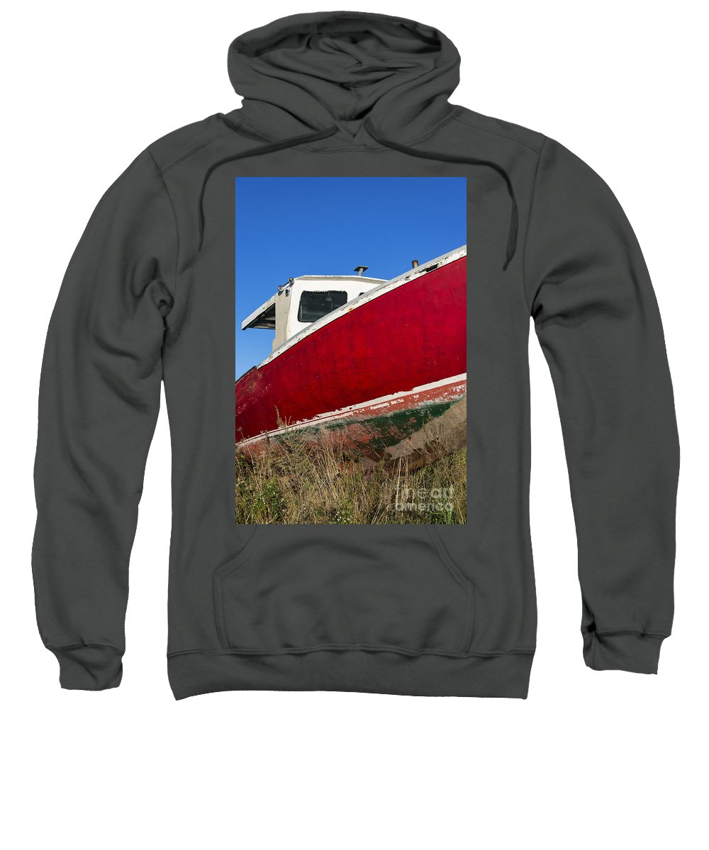 Abandoned Sweatshirt featuring the photograph Old Weathered Boat by John Greim